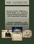 Herman Kravitz, Petitioner, V. United States. U.S. Supreme Court Transcript of Record with Supporting Pleadings