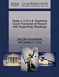 Testa V. U S U.S. Supreme Court Transcript of Record with Supporting Pleadings