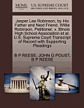 Jasper Lee Robinson, by His Father and Next Friend, Willie Robinson, Petitioner, V. Illinois High School Association et al. U.S. Supreme Court Transcr