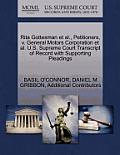 Rita Gottesman et al., Petitioners, V. General Motors Corporation et al. U.S. Supreme Court Transcript of Record with Supporting Pleadings