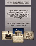Miguel Pons, Petitioner, V. Republic of Cuba. U.S. Supreme Court Transcript of Record with Supporting Pleadings