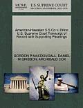 American-Hawaiian S S Co V. Dillon U.S. Supreme Court Transcript of Record with Supporting Pleadings