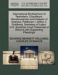 International Brotherhood of Teamsters, Chauffeurs, Warehousemen and Helpers of America, Petitioner V. Arthur J. Goldberg, Secretary of Labor. U.S. Su