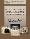 H. J. Ryan V. President of the Senate, Etc. U.S. Supreme Court Transcript of Record with Supporting Pleadings