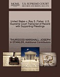 United States V. Ray S. Fisher. U.S. Supreme Court Transcript of Record with Supporting Pleadings