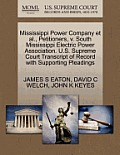 Mississippi Power Company et al., Petitioners, V. South Mississippi Electric Power Association. U.S. Supreme Court Transcript of Record with Supportin