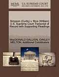 Simpson (Curtis) V. Rice (William) U.S. Supreme Court Transcript of Record with Supporting Pleadings
