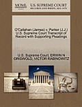 O'Callahan (James) V. Parker (J.J.) U.S. Supreme Court Transcript of Record with Supporting Pleadings