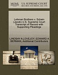 Lehman Brothers V. Schein (Jacob) U.S. Supreme Court Transcript of Record with Supporting Pleadings
