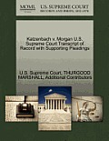 Katzenbach V. Morgan U.S. Supreme Court Transcript of Record with Supporting Pleadings