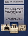 Joseph Rizzo Et Al., Petitioner, V. United States. U.S. Supreme Court Transcript of Record with Supporting Pleadings