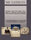 Burkard V. New York; Habel V. New York U.S. Supreme Court Transcript of Record with Supporting Pleadings