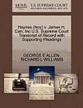 Haynes (Noy) V. James H. Carr, Inc U.S. Supreme Court Transcript of Record with Supporting Pleadings