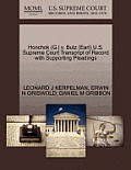 Honchok (G.) V. Butz (Earl) U.S. Supreme Court Transcript of Record with Supporting Pleadings