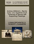 Andrew (Mildred) V. Bendix Corp. U.S. Supreme Court Transcript of Record with Supporting Pleadings