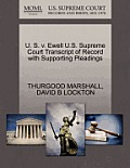 U. S. V. Ewell U.S. Supreme Court Transcript of Record with Supporting Pleadings