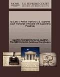 Itz (Leo) V. Penick (Vernon) U.S. Supreme Court Transcript of Record with Supporting Pleadings