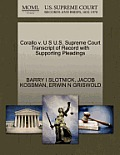 Corallo V. U S U.S. Supreme Court Transcript of Record with Supporting Pleadings