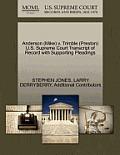 Anderson (Mike) V. Trimble (Preston) U.S. Supreme Court Transcript of Record with Supporting Pleadings