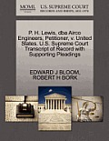 P. H. Lewis, DBA Airco Engineers, Petitioner, V. United States. U.S. Supreme Court Transcript of Record with Supporting Pleadings