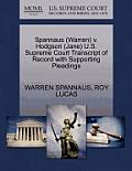 Spannaus (Warren) V. Hodgson (Jane) U.S. Supreme Court Transcript of Record with Supporting Pleadings