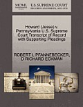 Howard (Jesse) V. Pennsylvania U.S. Supreme Court Transcript of Record with Supporting Pleadings