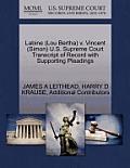 Labine (Lou Bertha) V. Vincent (Simon) U.S. Supreme Court Transcript of Record with Supporting Pleadings
