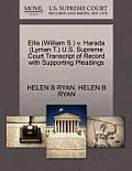 Ellis (William S.) V. Harada (Lyman T.) U.S. Supreme Court Transcript of Record with Supporting Pleadings