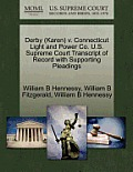 Derby (Karen) V. Connecticut Light and Power Co. U.S. Supreme Court Transcript of Record with Supporting Pleadings