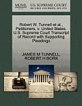 Robert W. Tunnell et al., Petitioners, V. United States. U.S. Supreme Court Transcript of Record with Supporting Pleadings