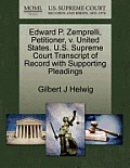 Edward P. Zemprelli, Petitioner, V. United States. U.S. Supreme Court Transcript of Record with Supporting Pleadings