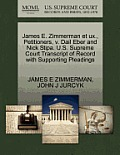 James E. Zimmerman Et Ux., Petitioners, V. Dail Eber and Nick Stipa. U.S. Supreme Court Transcript of Record with Supporting Pleadings