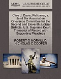 Clive J. Davis, Petitioner, V. Joint Bar Association Grievance Committee for the Second and Eleventh Judicial Districts. U.S. Supreme Court Transcript