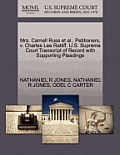 Mrs. Carnell Russ et al., Petitioners, V. Charles Lee Ratliff. U.S. Supreme Court Transcript of Record with Supporting Pleadings