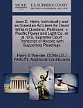 Joan E. Helm, Individually and as Guardian Ad Litem for David William Quedens, Petitioner, V. Pacific Power and Light Co. et al. U.S. Supreme Court Tr