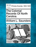 The Colonial Records of North Carolina.