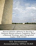 Biosurveillance: Efforts to Develop a National Biosurveillance Capability Need a National Strategy and a Designated Leader: Gao-10-645