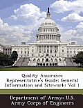Quality Assurance Representative's Guide: General Information and Sitework: Vol 1