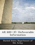 AR 600-37: Unfavorable Information