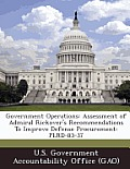 Government Operations: Assessment of Admiral Rickover's Recommendations to Improve Defense Procurement: Plrd-83-37