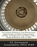 Government Efficiency and Effectiveness: Opportunities to Reduce Fragmentation, Overlap, and Duplication and Achieve Other Financial Benefits: Gao-13-