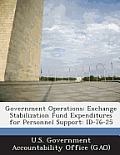 Government Operations: Exchange Stabilization Fund Expenditures for Personnel Support: Id-76-25