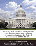 Auditing and Financial Management: Core Competencies for Financial Systems Analysts in the Federal Government: Jfmip-Et-98-1