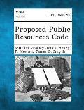 Proposed Public Resources Code