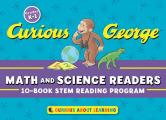 Curious George Math and Science Readers: 10-Book Stem Reading Program [With Cards]