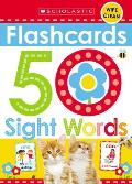 Flashcards 50 Sight Words Scholastic Early Learners