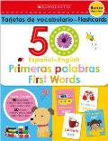 Flash Cards Set 50 Spanish English First Words Scholastic Early Learners
