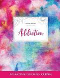 Adult Coloring Journal: Addiction (Pet Illustrations, Rainbow Canvas)