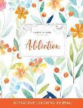 Adult Coloring Journal: Addiction (Sea Life Illustrations, Springtime Floral)