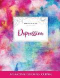 Adult Coloring Journal: Depression (Mandala Illustrations, Rainbow Canvas)